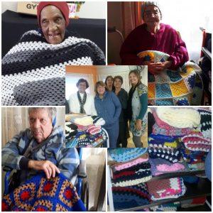 Starlights Creative Club - Seniors receiving blankets
